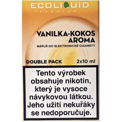 Liquid Ecoliquid Premium 2Pack Vanilla Coconut 2x10 ml - 12 mg