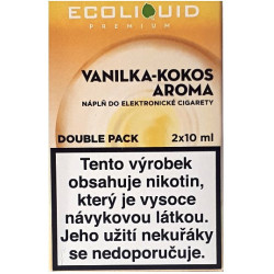Liquid Ecoliquid Premium 2Pack Vanilla Coconut 2x10 ml - 20 mg