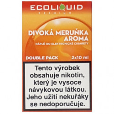 Liquid Ecoliquid Premium 2Pack Wild Apricot 2x10 ml - 20 mg