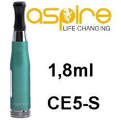 aSpire CE5-S Clearomizer 1,8ohm 1,8 ml Green
