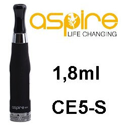 aSpire CE5-S Clearomizer 1,8 ohm 1,8 ml Black