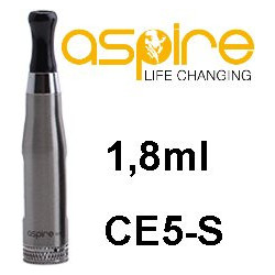 aSpire CE5-S Clearomizer 1,8ohm 1,8 ml Silver