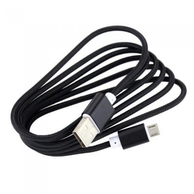 Univerzální MICRO USB kabel 2A Black (2000 mA) High Quality
