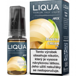 Liquid LIQUA CZ MIX Banana Cream 10 ml-18 mg