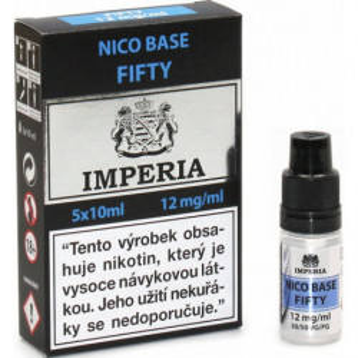 Nikotinová báze CZ IMPERIA 5x10 ml PG50-VG50 12 mg