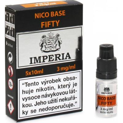 Nikotinová báze CZ IMPERIA 5x10 ml PG50-VG50 03 mg