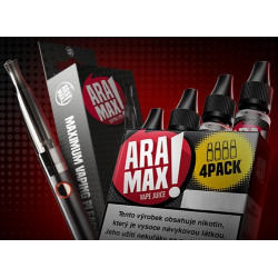 ARAMAX Výhodná Sada 4Pack Usa Mix 12 mg + e-cigareta Aramax Vaping Pen